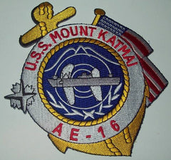 AE-16 USS MOUNT KATMAI AMMUNITION SHIP MILITARY PATCH ANCHOR