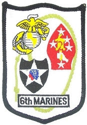 6th MARINE REGIMENT MILITARY PATCH