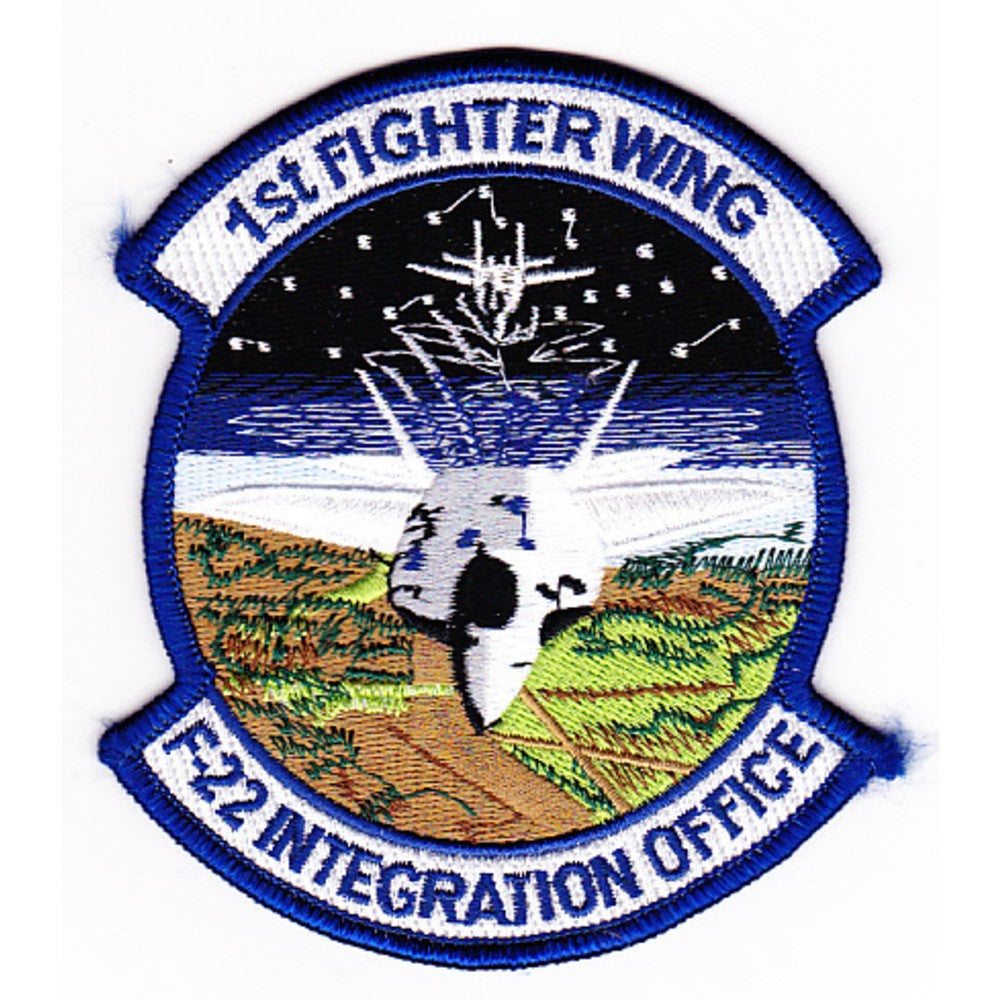 1st Fighter Wing F-22 Integration Office USAF Military Patch