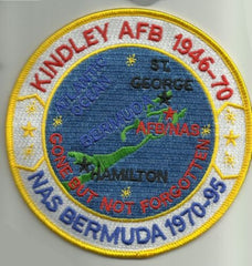 KINDLEY AFB 1946-70 & NAS BERMUDA 1970-95 MILITARY PATCH GONE BUT NOT FORGOTTEN