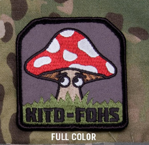 KITD-FOHS MUSHROOM TACTICAL COMBAT BADGE MILITARY PATCH - FULL COLOR