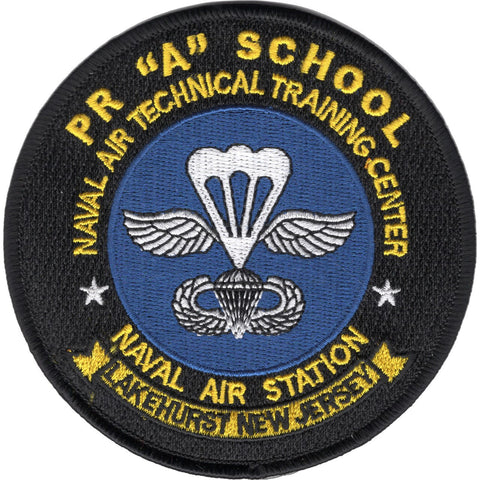"NATTC Naval Air Technical Training Center NAS Lakehurst, New Jersey PR ""A"" School Military Patch"