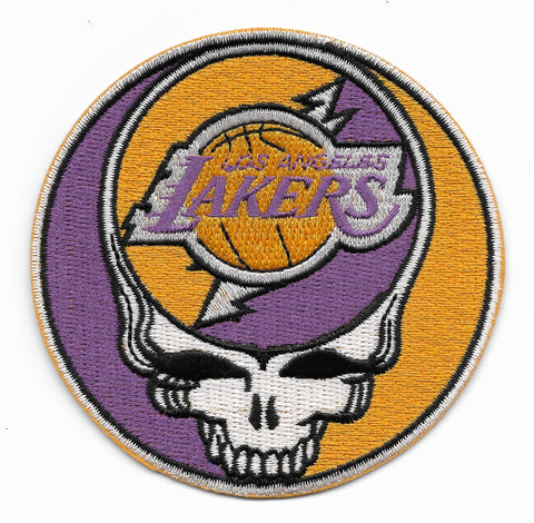 Steal Your Face Lakers Dead Head Skull Patch