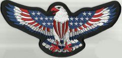AMERICAN FLAG DECORATED EAGLE PATCH - SMALL