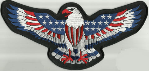 AMERICAN FLAG DECORATED EAGLE BACK PATCH