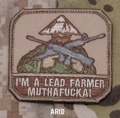 I'M A LEAD FARMER - ARID - BLACK OPS TACTICAL BADGE MORALE VELCRO MILITARY PATCH