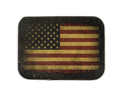 VINTAGE STYLE AMERICAN FLAG LEATHER PATCH USA