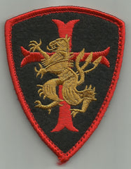 SEAL TEAM CRUSADER CROSS LION KNIGHTS TEMPLAR SHIELD VELCRO PATCH - Color