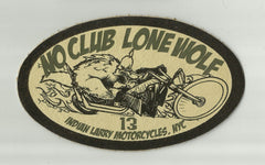 LEATHER INDIAN LARRY NO CLUB LONE WOLF