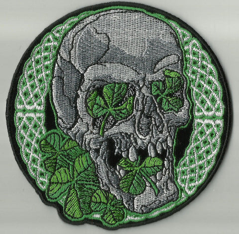 LUCKY CLOVER IRISH CELTIC SKULL