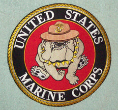 LARGE UNITED STATES MARINE CORPS BULL DOG BACK PATCH