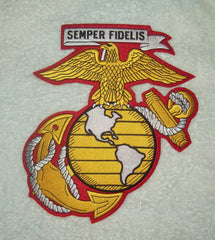 LARGE BACK PATCH MARINE CORPS LOGO SEMPER FIDELIS
