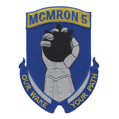 MCMRON 5 Mine Countermeasures Squadron Five Patch OUR WAKE YOUR PATH