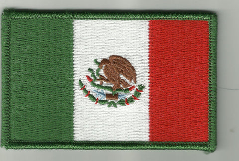 MEXICAN FLAG BIKER MILITARY PATCH