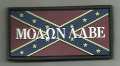 MOLON LABE REBEL FLAG PVC VELCRO PATCH - COLOR