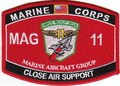 MAG 11 Marine Aircraft Group Close Air Support USMC MOS Military Patch