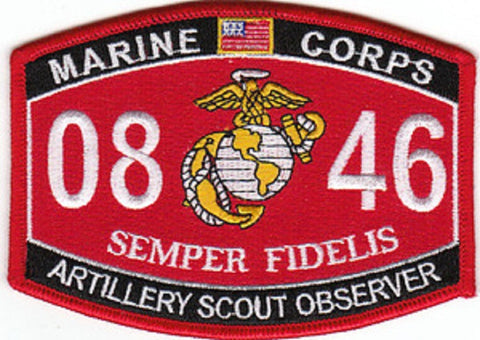 "USMC ""ARTILLERY SCOUT OBSERVER"" 0846 MOS MILITARY PATCH"