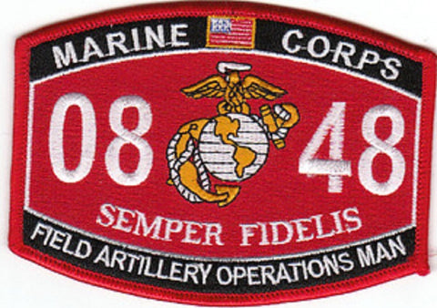 0848 FIELD ARTILLERY OPERATIONS MAN USMC MOS MILITARY PATCH