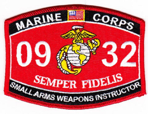 "USMC ""SMALL ARMS WEAPONS INSTRUCTOR"" 0932 MOS MILITARY PATCH"