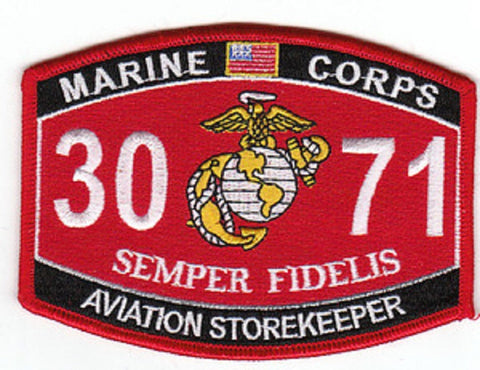 "3071 USMC ""AVIATION STOREKEEPER"" MOS MILITARY PATCH"