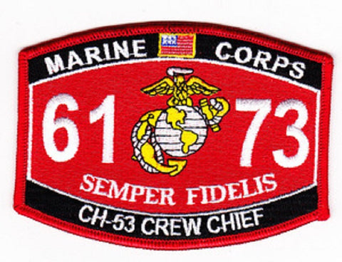 "6173 USMC ""CH-53 CREW CHIEF"" MOS MILITARY PATCH"