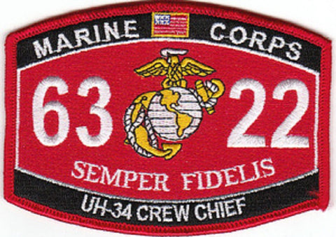 "6322 USMC ""UH-34 CREW CHIEF"" MOS MILITARY PATCH"