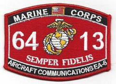 "USMC ""AIRCRAFT COMMUNICATIONS EA-6"" 6413 MOS MILITARY PATCH SEMPER FIDELIS"