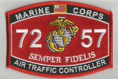 "USMC ""AIR TRAFFIC CONTROLLER"" 7257 MOS MILITARY PATCH"