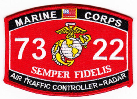 "7322 USMC ""AIR TRAFFIC CONTROLLER - RADAR"" MOS MILITARY PATCH"