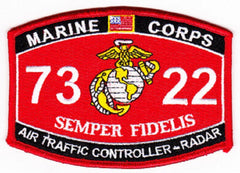 "USMC ""AIR TRAFFIC CONTROLLER - RADAR"" 7322 MOS MILITARY PATCH"