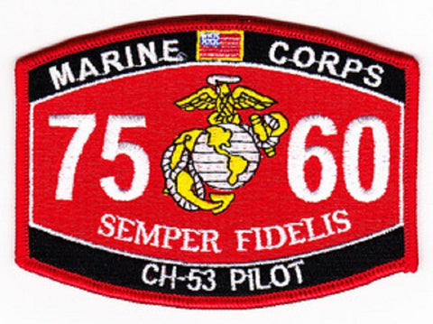 "USMC ""CH-53 PILOT"" 7560 MOS MILITARY PATCH"