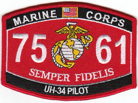 "7561 USMC ""UH-34 PILOT"" MOS MILITARY PATCH"