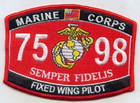"7598 USMC ""FIXED WING PILOT"" MOS MILITARY PATCH"