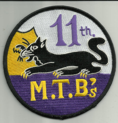 MTBRON 11 Motor Torpedo Squadron Military Patch - 11th M.T.B's