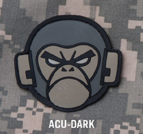 MONKEY HEAD TACTICAL COMBAT MORALE PVC VELCRO PATCH ACU DARK