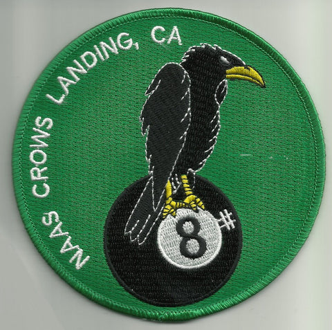 Naval Auxiliary Air Station NAAS CROWS LANDING CA Military Patch - EIGHT BALL