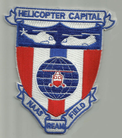 NAAS REAM FIELD IMPERIAL BEACH CALIFORNIA MILITARY PATCH HELICOPTER CAPITAL