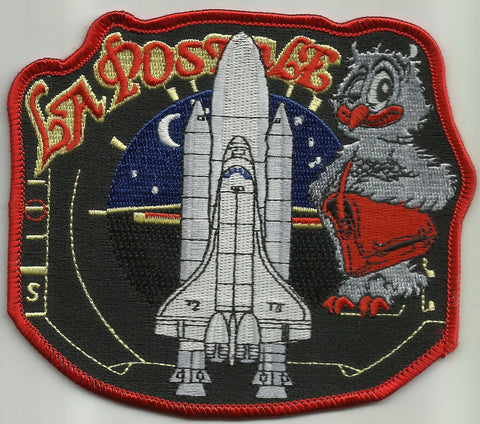 STS-86 SPACE SHUTTLE ATLANTIS LA POSTALE DE NUIT NASA SPACE PATCH