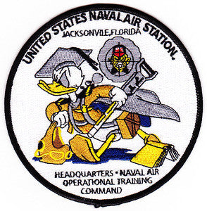 NAVAL AIR STATION NAS JACKSONVILLE Florida Military Patch HEADQUARTERS NAVAL AIR OPERATIONAL TRAINING COMMAND
