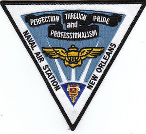 US NAVAL AIR STATION NAS NEW ORLEANS MILITARY PATCH Perfection Through Pride and Professionalism