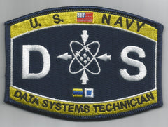 United States Navy DATA SYSTEMS TECHNICIAN Ratings Patch - DS - Military Patch