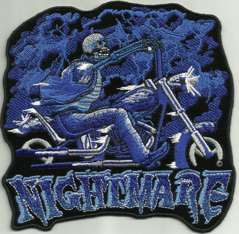 DEATH SKULL NIGHTMARE BIKER MC OUTLAW CHOPPER BIKER PATCH