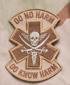 DO NO HARM PIRATE TACTICAL COMBAT MEDIC BADGE - DESERT