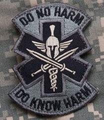 DO NO HARM SPARTAN TACTICAL COMBAT MEDIC BADGE - ACU