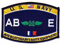 United States NAVY Aviation Rating Boatswain's Mate Equipment Military Patch ABE