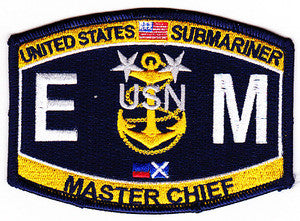 United States NAVY Engineering Rating Submarine Master Chief Electrician's Mate EMCM Military Patch