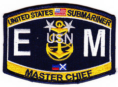 Submarine Master Chief Electrician's Mate Rating Military Patch EMCM-SS
