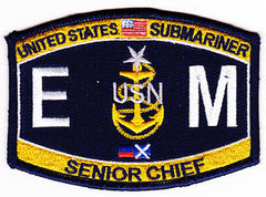 United States NAVY Engineering Rating Submarine Senior Chief Electrician's Mate EMCS Military Patch