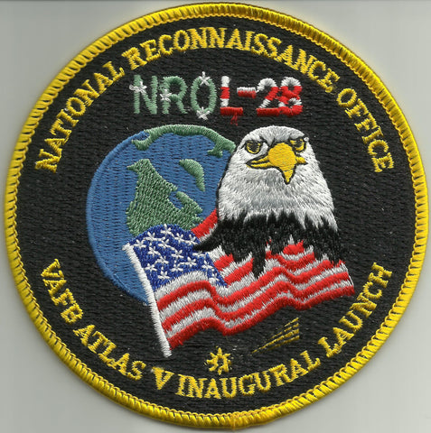 NROL-28 ATLAS V INAUGURAL LAUNCH VAFB USAF SATELLITE PATCH