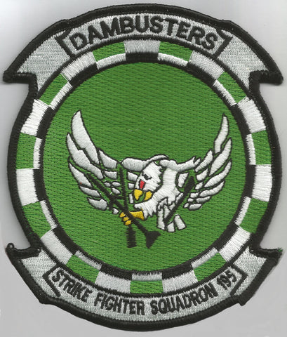NAVY VF-195 Aviation Strike Fighter Squadron Military Patch DAMBUSTERS